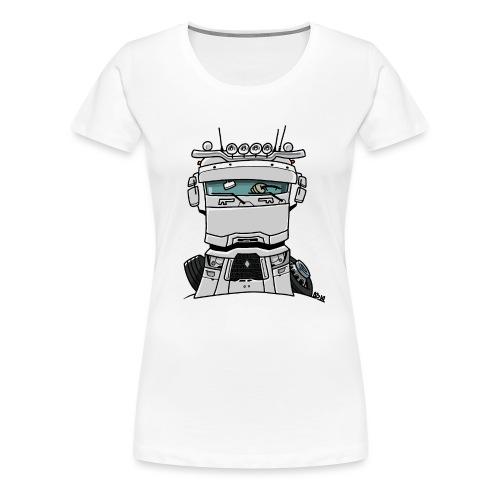 0813 R truck wit - Vrouwen Premium T-shirt