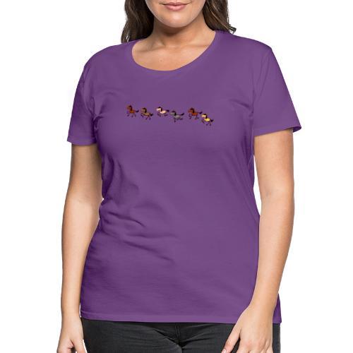 galoppierende Pferde - Frauen Premium T-Shirt