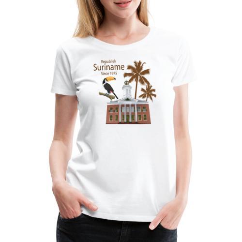Gebouw Financiën - Vrouwen Premium T-shirt