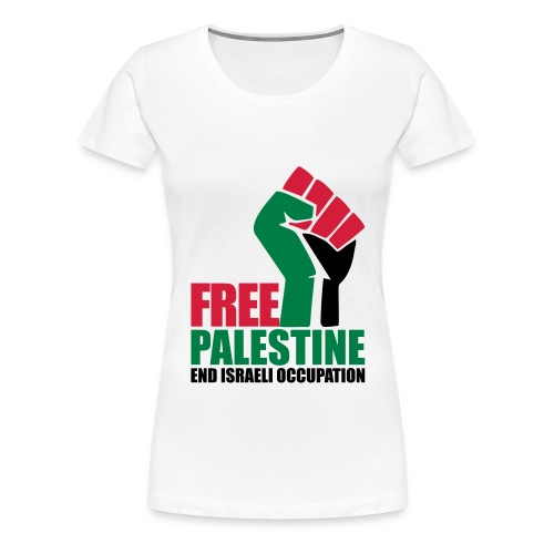 Free Palestine End Israeli Occupation - Women's Premium T-Shirt