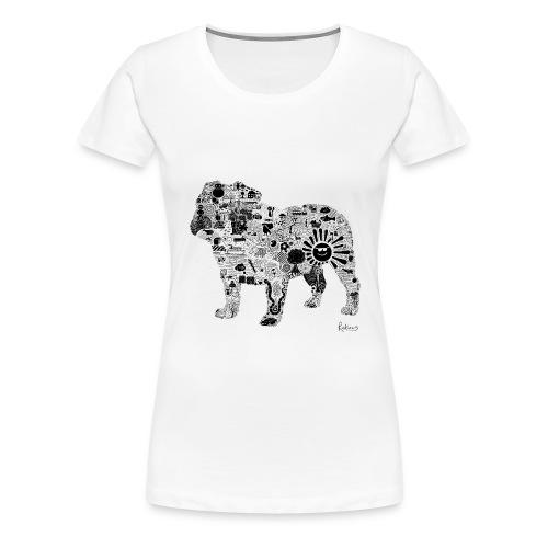 Doodle Dog - black - Women's Premium T-Shirt