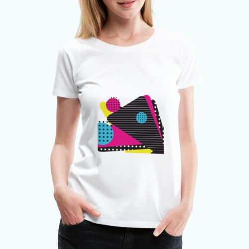 Abstract vintage shapes pink - Women's Premium T-Shirt