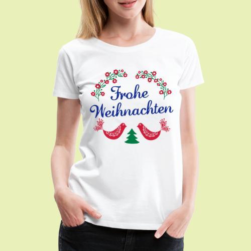 frohe Weihnachten 02-3c - Frauen Premium T-Shirt
