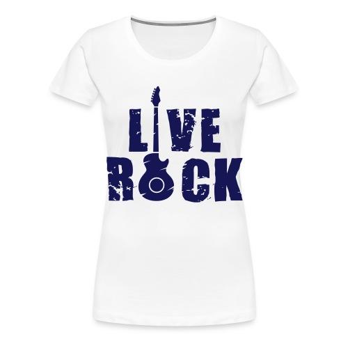 Live Rock - Maglietta Premium da donna