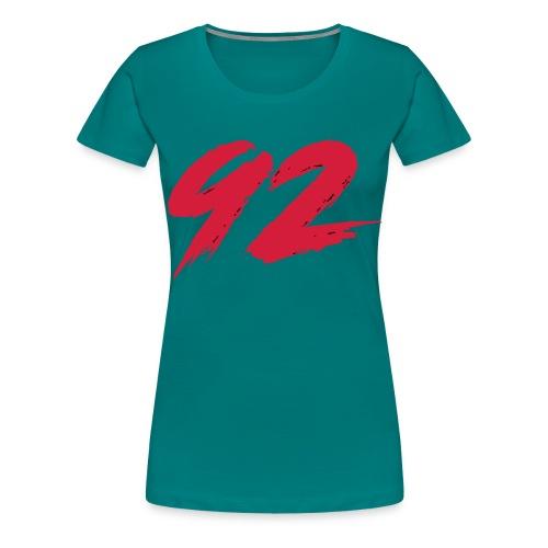 92 Logo 1 - Frauen Premium T-Shirt