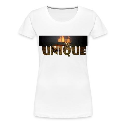 Rentier on fire - Frauen Premium T-Shirt