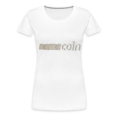 namecoin 3d 5 t - Frauen Premium T-Shirt