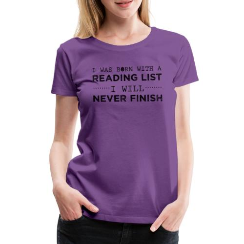 0193 Stapel ungelesener Bücher | Lesen | Leser - Women's Premium T-Shirt