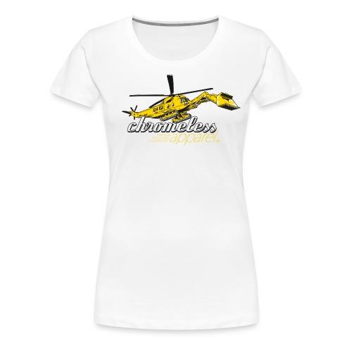 CHROMELESS BAGGERKOPTER - Frauen Premium T-Shirt