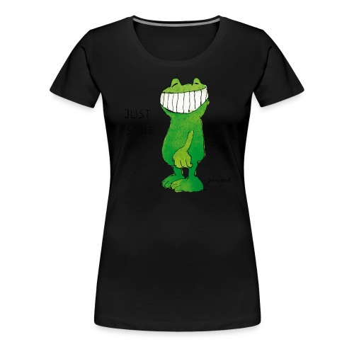 Janoschs Günter Kastenfrosch Just Smile - Frauen Premium T-Shirt