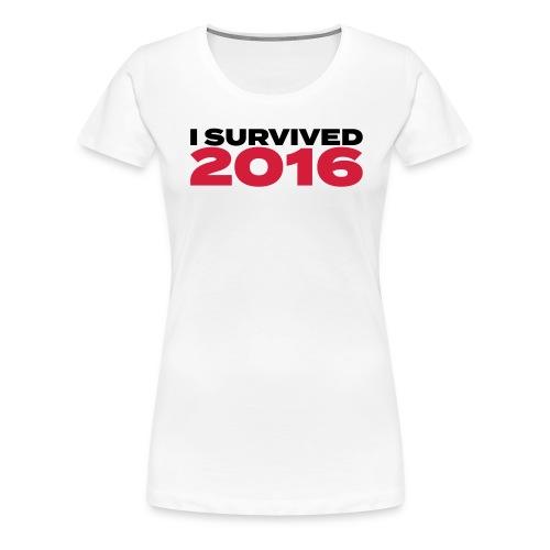 I survived 2016 schwarz - Frauen Premium T-Shirt