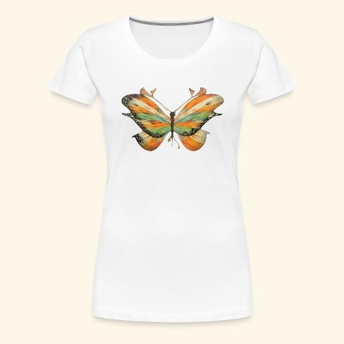 grande farfalla colorata - Maglietta Premium da donna