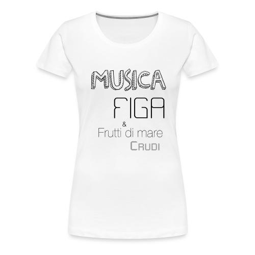Musica F&F - Maglietta Premium da donna