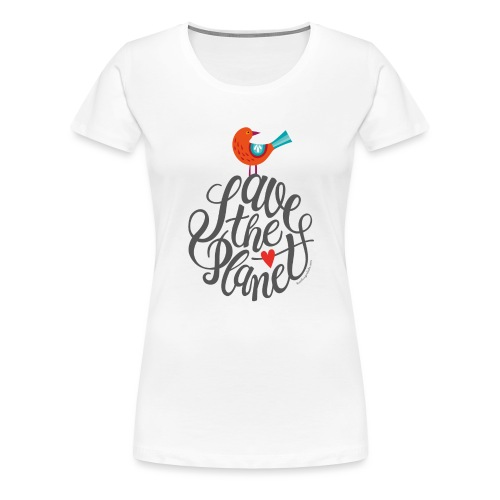 Save the planet grau - Frauen Premium T-Shirt