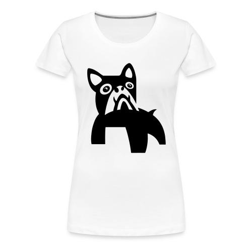 MadDog_kunst mit hund.eps - Frauen Premium T-Shirt