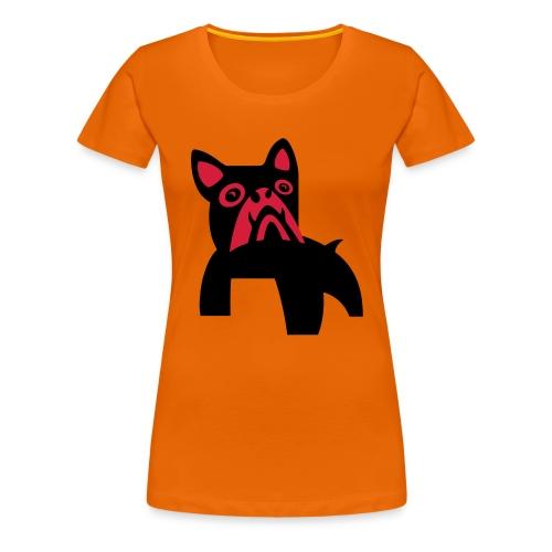MadDog_kunst mit hund_2fa - Frauen Premium T-Shirt