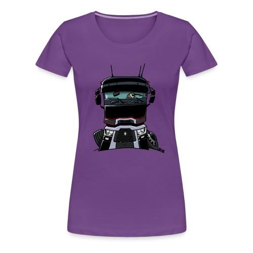 0813 R truck zwart - Vrouwen Premium T-shirt