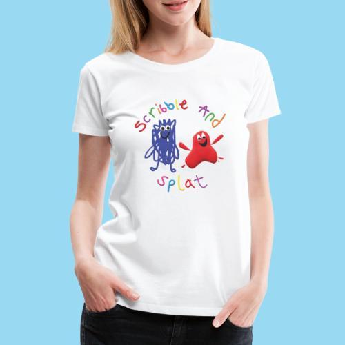 Scribble and splat logo - Women's Premium T-Shirt