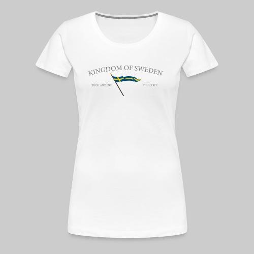 Swedish flag with text - Premium-T-shirt dam