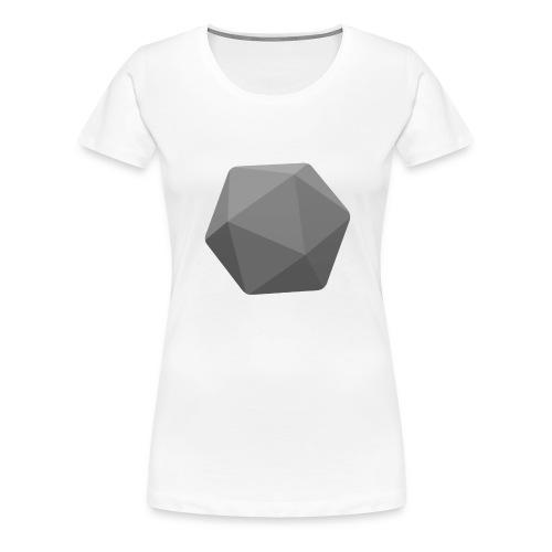 Grey d20 - D&D Dungeons and dragons dnd - Women's Premium T-Shirt