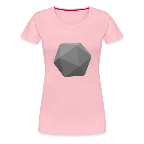 Grey d20 - D&D Dungeons and dragons dnd - Naisten premium t-paita