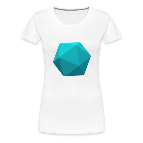 Blue d20 - Women's Premium T-Shirt