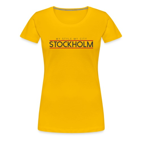 MY STYLE MY CITY STOCKHOLM - Women's Premium T-Shirt