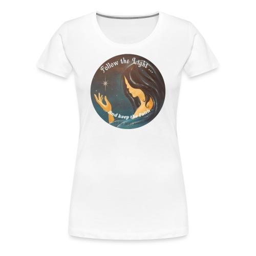 Follow the light, d'après le peinture Améthyste - T-shirt Premium Femme