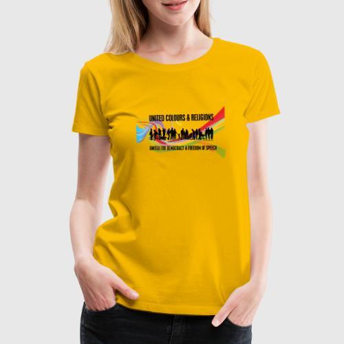 united colours dk png - Dame premium T-shirt