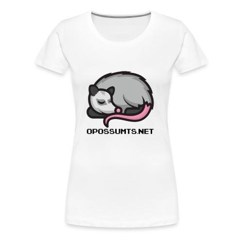OpossumTS-Logo mit Schrift - Frauen Premium T-Shirt