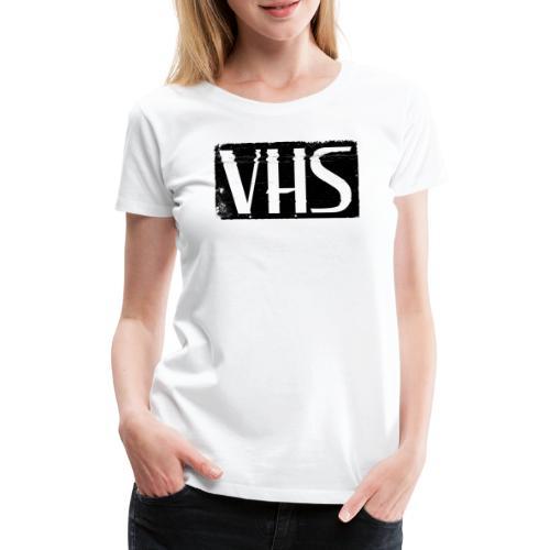 VHS BLACK LABEL - Naisten premium t-paita