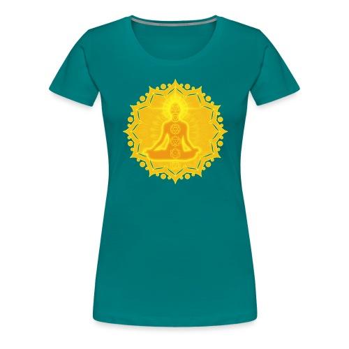 Yoga Lotus Meditation Chakren III - Frauen Premium T-Shirt