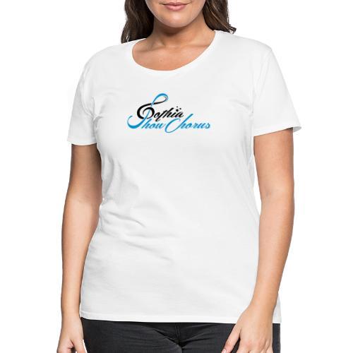 GothiaShowChorus_liggande svart blå - Premium-T-shirt dam