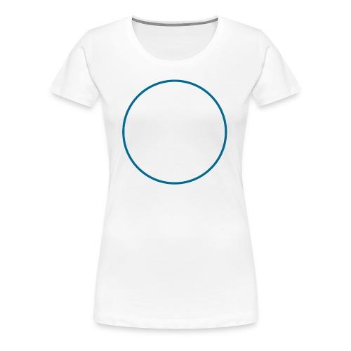 cerchio_petrolio - Maglietta Premium da donna