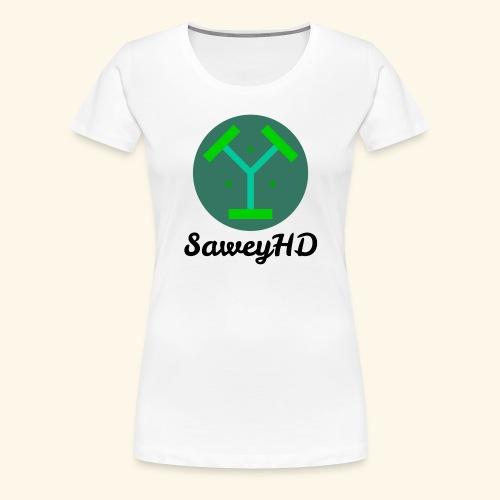 SaweyHD Weiß - Frauen Premium T-Shirt