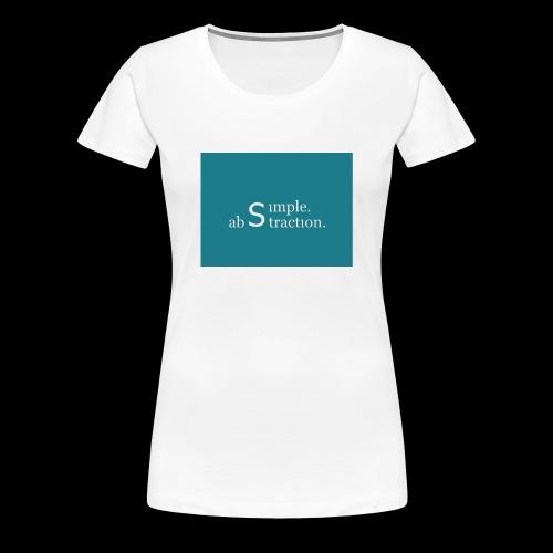 simple. abstraction. Logo - Frauen Premium T-Shirt