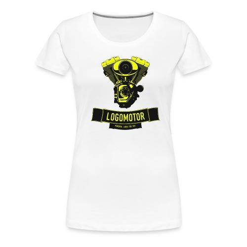 logomotor logo web - Frauen Premium T-Shirt