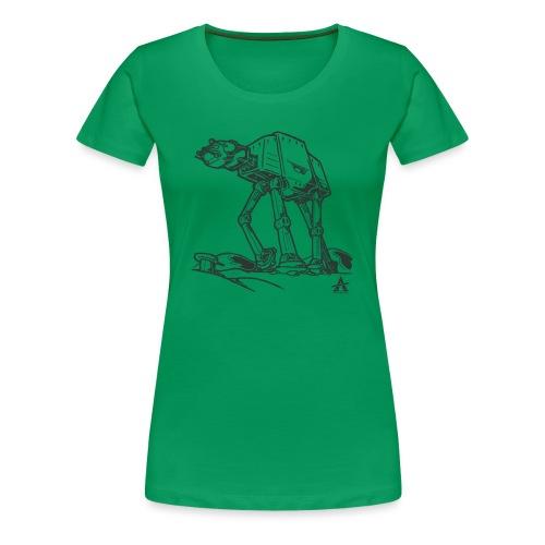 AT AT Walker ligne d'esquisse - T-shirt Premium Femme