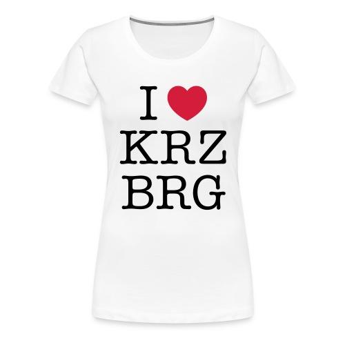 I love KRZBRG - Frauen Premium T-Shirt