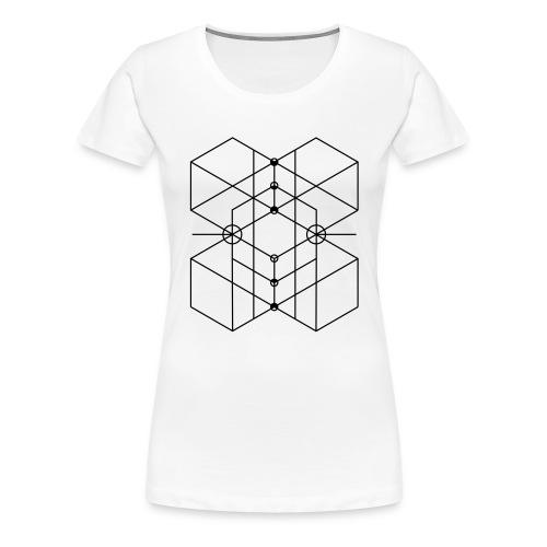 Sacred Geometry 3 - Frauen Premium T-Shirt