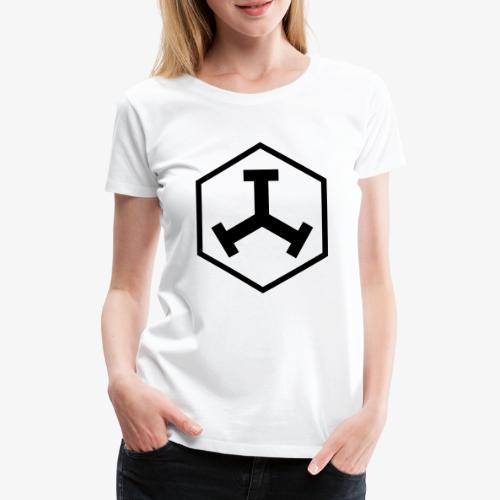 TTT Logo Hexagon Black - Frauen Premium T-Shirt