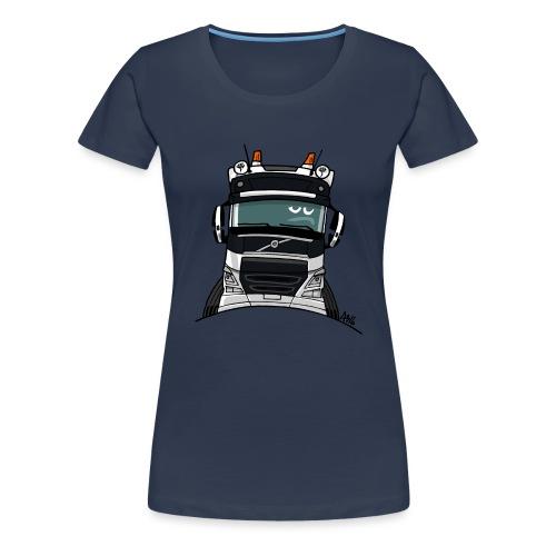 0488 V truck wit - Vrouwen Premium T-shirt