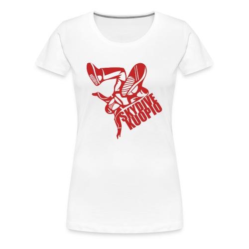 KLU logo red - Naisten premium t-paita