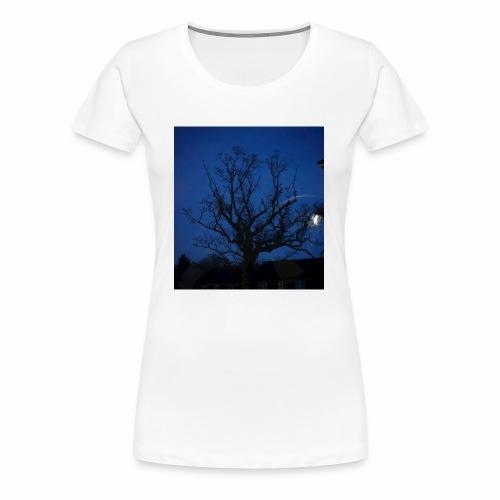 tree night sky - Women's Premium T-Shirt