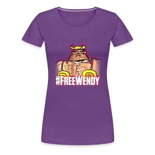 #FreeWendy - Women's Premium T-Shirt
