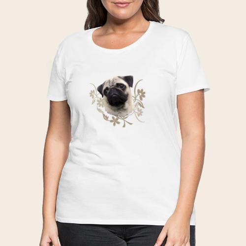 Mops Portrait - Frauen Premium T-Shirt