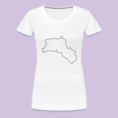 Kurdistan Black - Frauen Premium T-Shirt