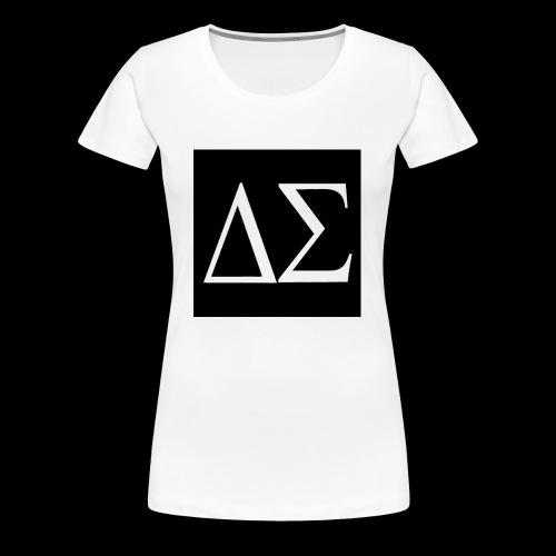 Logo blanc sur fond noir - T-shirt Premium Femme