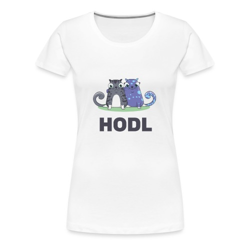 Kitty HODL - Women's Premium T-Shirt