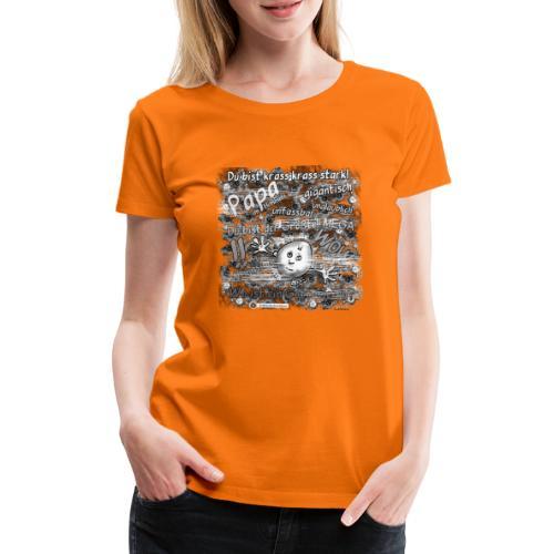Kreativ Studio Nuding Big heavenly Daddy grau - Frauen Premium T-Shirt